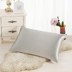 ALASKA BEAR Natural Silk Pillowcase, Hypoallergenic, 19 momm