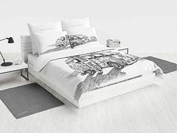 Sketchy Mini Crib Bedding Set Hot Summer Californian Surfing