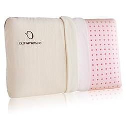 Comfort & Relax Latex Memory Foam Pillow with Ventilation Te