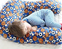 Sleep Zzz Bedtime Pillow w/ removable washable cover