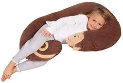 Leachco Snoogle Jr. - Luxuriously Soft Plush Monkey with Zip