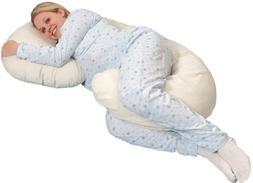 Snoogle Original Total Body Pillow Color: Navy