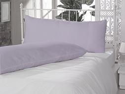 Solid Pattern 100% Pure Egyptian Cotton 2 Piece Body Pillow