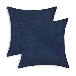 Aitliving 2 pcs Pack Solid Throw Pillow Covers Cases Cushion