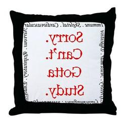 CafePress Sorry. Can't. Body Systems 2 Decor Throw Pillow