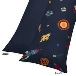 Sweet Jojo Designs Space Galaxy Rocket Ship Full Length Doub