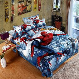 Spider-Man Kids cartoon Bedding set-Lotus Karen KIBS008 Capt