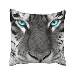 Emvency Square 16x16 Inches Decorative Pillowcases Tiger Pil