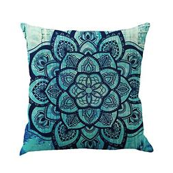 "Xinhuaya 1818"" Square Pillow Cover Decorative Mandala Pillow"