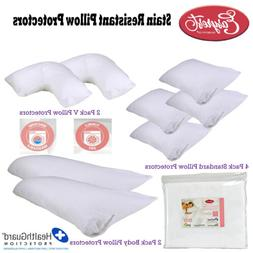 Stain Resistant Pillow Protectors by Easyrest - Choose Size