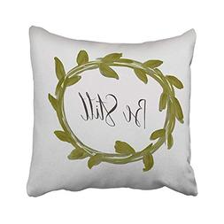 Large beach pants Be Still Leaf Laurel Pillow Quote Cushions