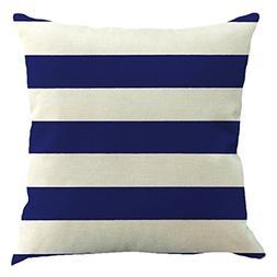 SODIAL Striped geometric flax pillow office cushions pillowc
