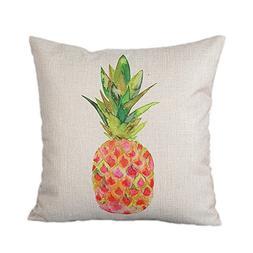 Monkeysell pineapple Patterns Cotton Linen Decorative throw