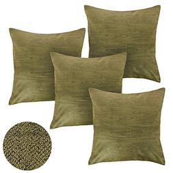 Deconovo Suede Embossed Wood Grain Design Throw Cushion Cove