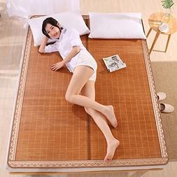 LQQGXL Summer Sleeping mat, Foldable Bamboo mat Double-Sided