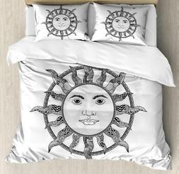 Sun Duvet Cover Set Twin Queen King Sizes with Pillow Shams