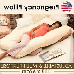 Full Body Pillow, U Shaped Pregnancy Pillow & Maternity Supp
