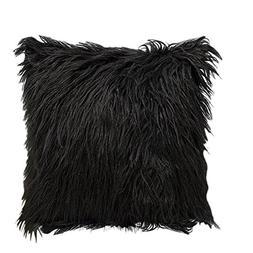 Bornbayb 18 x 18 Inch Super Soft Faux Fur Cushion Cover Plus