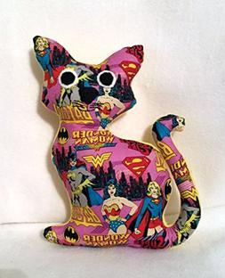 Superhero Girls themed stuffed cat/Stuffed animal cat/Best G