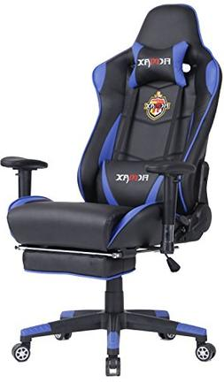 Ficmax Swivel Gaming Chair Ergonomic Racing Style PU Leather