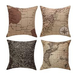 Uther Throw Pillow Case Square Decorative Map Art Pillow Cas