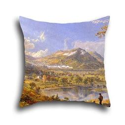 Throw Pillow Case Of Oil Painting Jasper Francis Cropsey - S