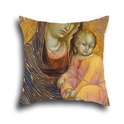 Throw Pillow Case Of Oil Painting Barnaba Da Modena - Madonn