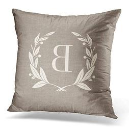 Throw Pillow Cover Cute Modern Rustic Laurel Wreath Christma