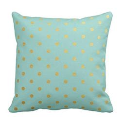 AileenREE Throw Pillow Cover Seafoam Foil Polka Dots Modern