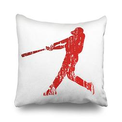 Throw Pillow Covers Baseball Player Grunge People Sports Rec