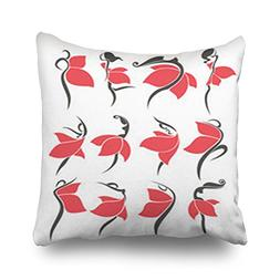 Throw Pillow Covers Large Collection Girls Red Dresses Girl