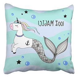 throw pillow covers cute unicorn