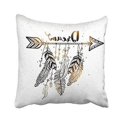 Accrocn Throw Pillow Covers Beautiful Dream Arrow Feachers B