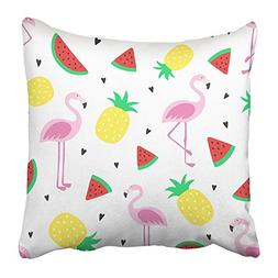 Emvency Throw Pillow Covers Print 16 x 16 Inch Tropical Craz
