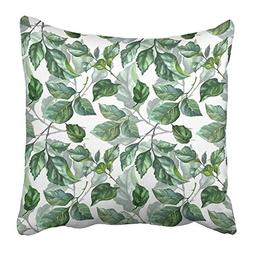 Emvency Throw Pillow Covers Print 16 x 16 Inch Watercolor Ro