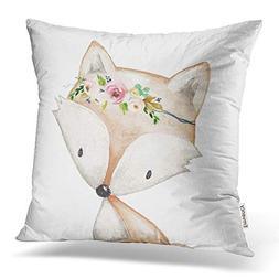 Accrocn Throw Pillow Covers Retro Tribal Popular Boho Fox Wo