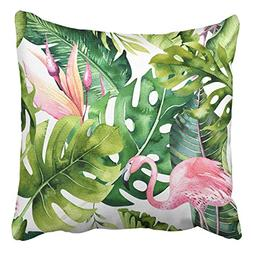 Emvency Throw Pillow Covers Tropical Isolated Pattern Flamin