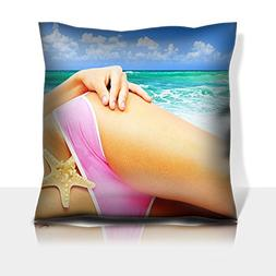 Liili Throw Pillowcase Polyester Satin Comfortable Decorativ