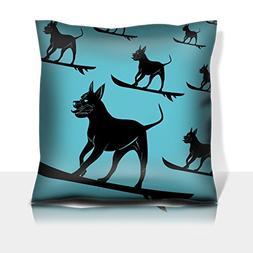Luxlady Throw Pillowcase Polyester Satin Comfortable Decorat