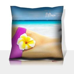 MSD Throw Pillowcase Polyester Satin Comfortable Decorative