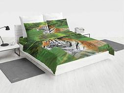 Tiger NES Bedding Set Black Striped Large Cat from Siberia S