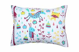 YourEcoFamily Toddler Pillow-14x19,Certified ORGANIC Shell w