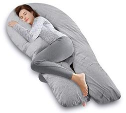 AngQi 65-inch Full Body Support Pillow with Washable Jersey