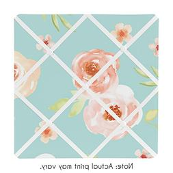 Sweet JoJo Designs Turquoise and Peach Fabric Memory Memo Ph