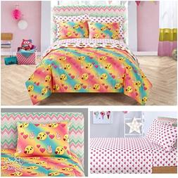 Emoji Kids 5 Piece Twin Comforter Bedding Set
