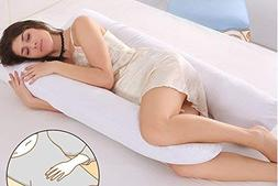 Idea2go U-Shape-Pregnancy Pillow, Full Body Maternity Pillow