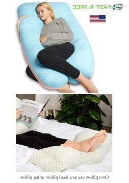 U-Shape Full Body Pregnancy Pillow back support, neck, head