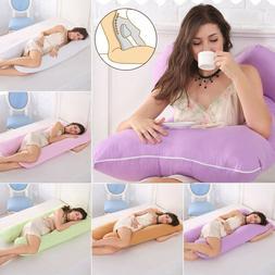 U-Shape Full Body Pregnancy Pillow Cover Maternity Support S
