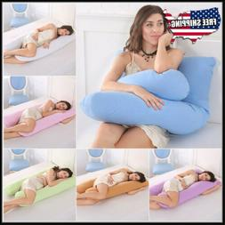 Pregnancy Pillow Maternity U Shaped Cotton Full Body Pillow
