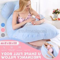 U Shape Pregnancy Pillow Maternity Belly Contoured Body Extr